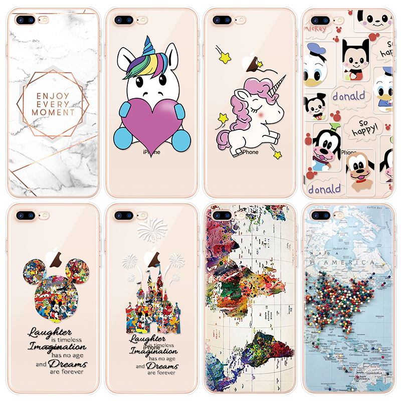 Luxury Case For iPhone X XS Max XR 5 SE 6 6s S 8 7 Plus For Motorola Moto G6 Plus Z Z2 Z3 Play M X4 X Unicorn Cartoon TPU Coque