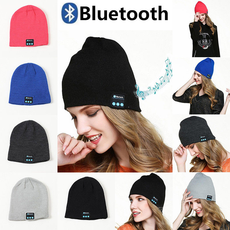 New Fashion Winter Warm Haps Bluetooth Lady Man Hats