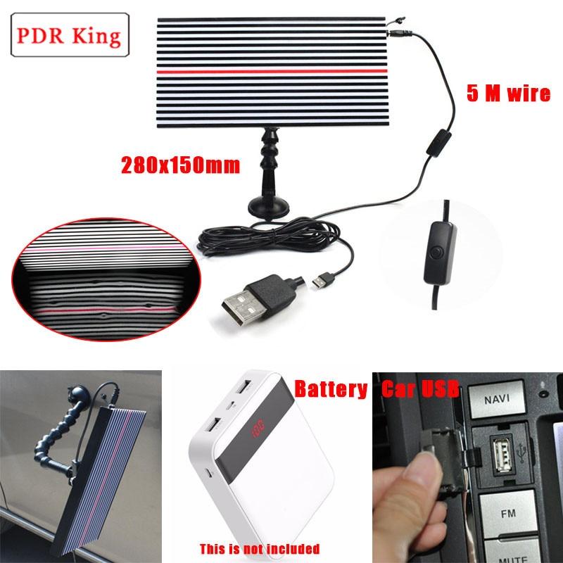 PDR Strip Line Board Paintless Dent Repair Tool Kit Lamp Reflective Board 5v USB LED lamp