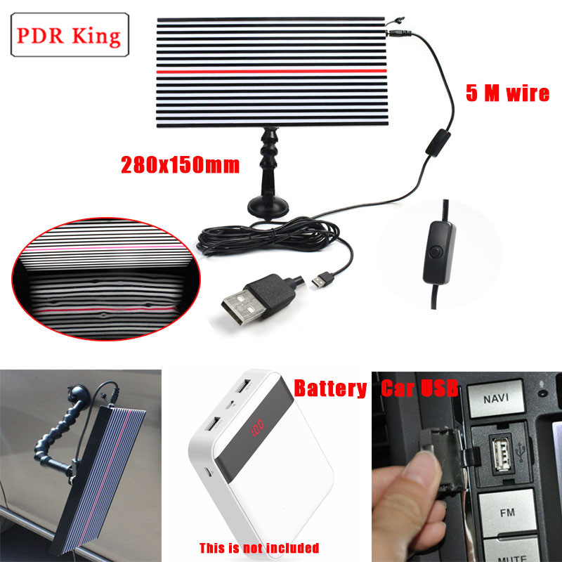 PDR Strip Line Board Paintless Dent Repair Tool Kit Lamp Reflective Board 5v USB LED lamp for professional dent repair tools