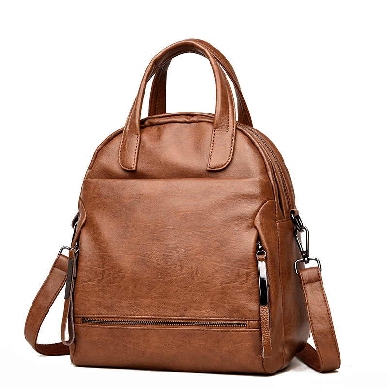 Aliexpress.com   Buy Chu JJ Vintage Multifunctional Genuine Leather Women s  Backpacks Students School Tote Bags Travel Lady Shoulder Bag from Reliable  ... 2ed1fc4133543