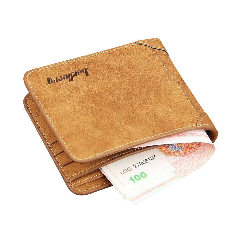 Hot Brand Men Wallet Nubuck Leather Slim Wallets Male Billfold Vintage Designer Purse Money Bag Credit Card Holder Short Wallet designer men wallets famous brand men long wallet clutch male money purses wrist strap wallet big capacity phone bag card holder