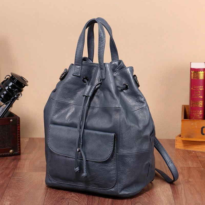 ソフト本革の女性のバッグバックパックラップトップ大容量の女性のショルダーバッグパックシンプルなデザイン旅行財布女性のための  グループ上の スーツケース & バッグ からの バックパック の中 1