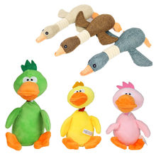 1Pc Fleece Squeak Toys for Dogs Puppy Pet Screaming Chicken Wild Goose Sounding Toy Chew Duck Large Dogs Toys(China)