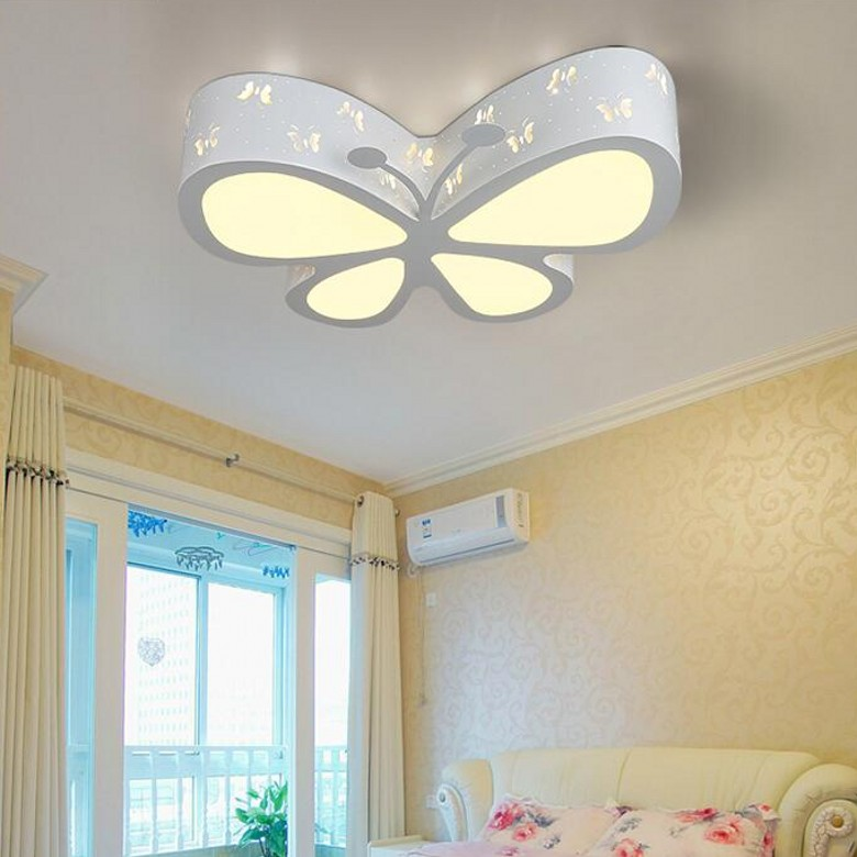 Childrenu0027s Room Color Butterfly LED Ceiling Lamp Baby Girl Baby Bedroom Butterfly  Lamp Romance Ceiling Lights ZL198 In Ceiling Lights From Lights U0026 Lighting  ...