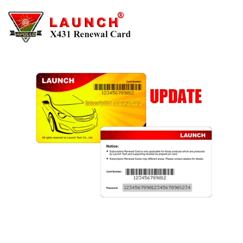 Launch Renewal Card For X431 V+ X431 PROS MINI /Diagun Iv/X431 V /X431 PRO Gasoline& Diesel Update Service цена