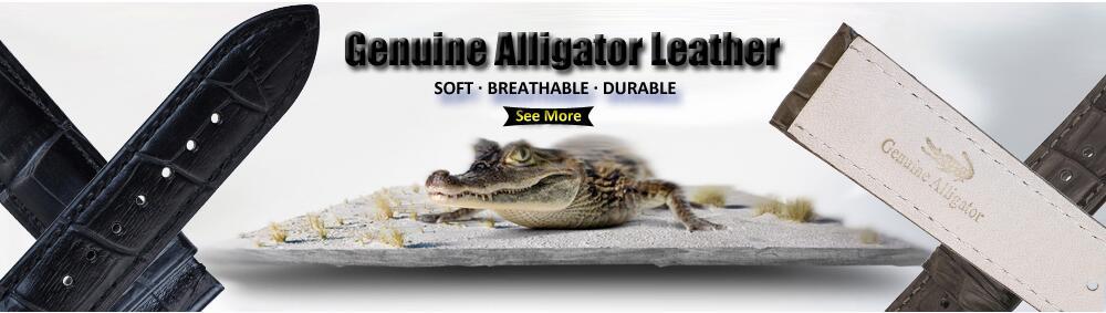 crocodilo genuíno feminino de alta qualidade 14-24mm