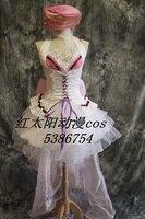 Мультфильм платье для костюмированной вечеринки цветы короткое платье в стиле «Лолита» таможенных размер решений