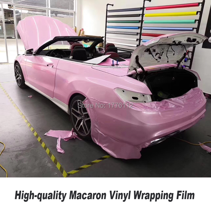 Highest quality series Macaron Pearl glossy Vinyl Wrap Sticker With Air Bubble Free Vehicle Wrapping Foil