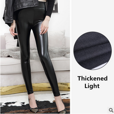 Everbellus High Waist Leather Leggings for Women Black Light&Matt Thin&Thick Femme Fitness PU Leggings Sexy Push Up Slim Pants 9