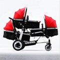 Carrinho de bebê Carrinho de Bebé 3 em 1 Três Bebês Trigêmeos Carro Multifunções Crianças Carrinhos de Alta paisagem Quatro Carros 3 Anos Warraty