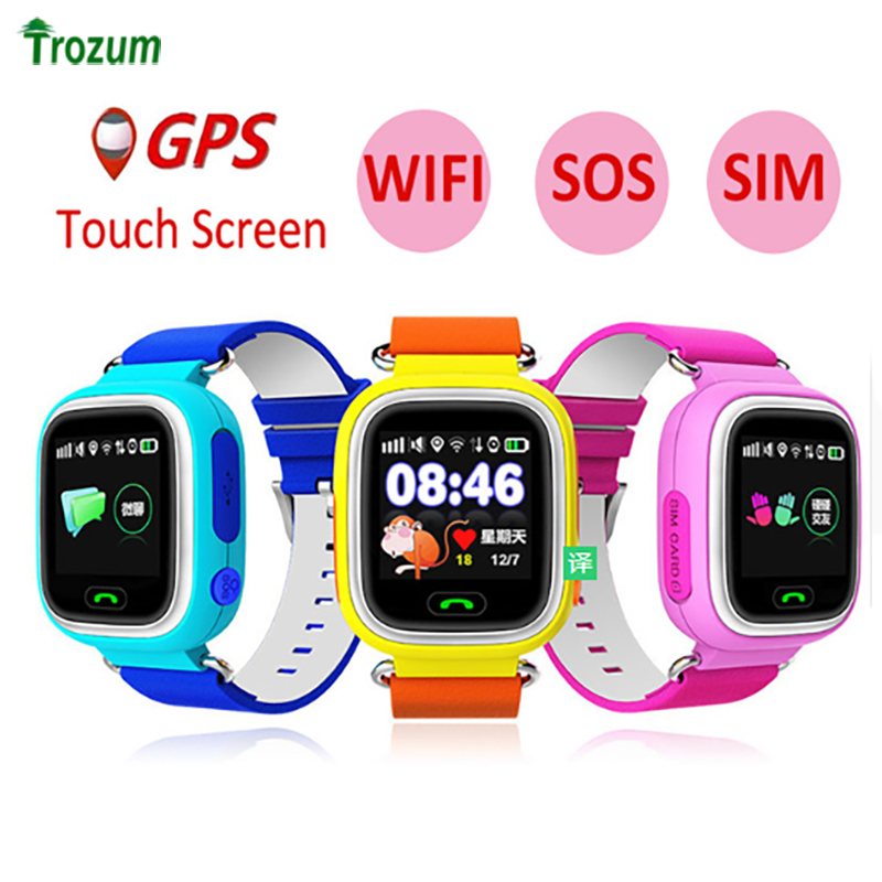Child GPS Wifi Location Smart Watch Q90 SOS Call Touch Screen Device Tracker for Kid Baby Safe Anti-Lost Monitor PK Q80 Q750 Q50 цены