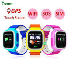 Child GPS Wifi Location Smart Watch Q90 SOS Call Touch Screen Device Tracker for Kid Baby Safe Anti-Lost Monitor PK Q80 Q750 Q50(China)