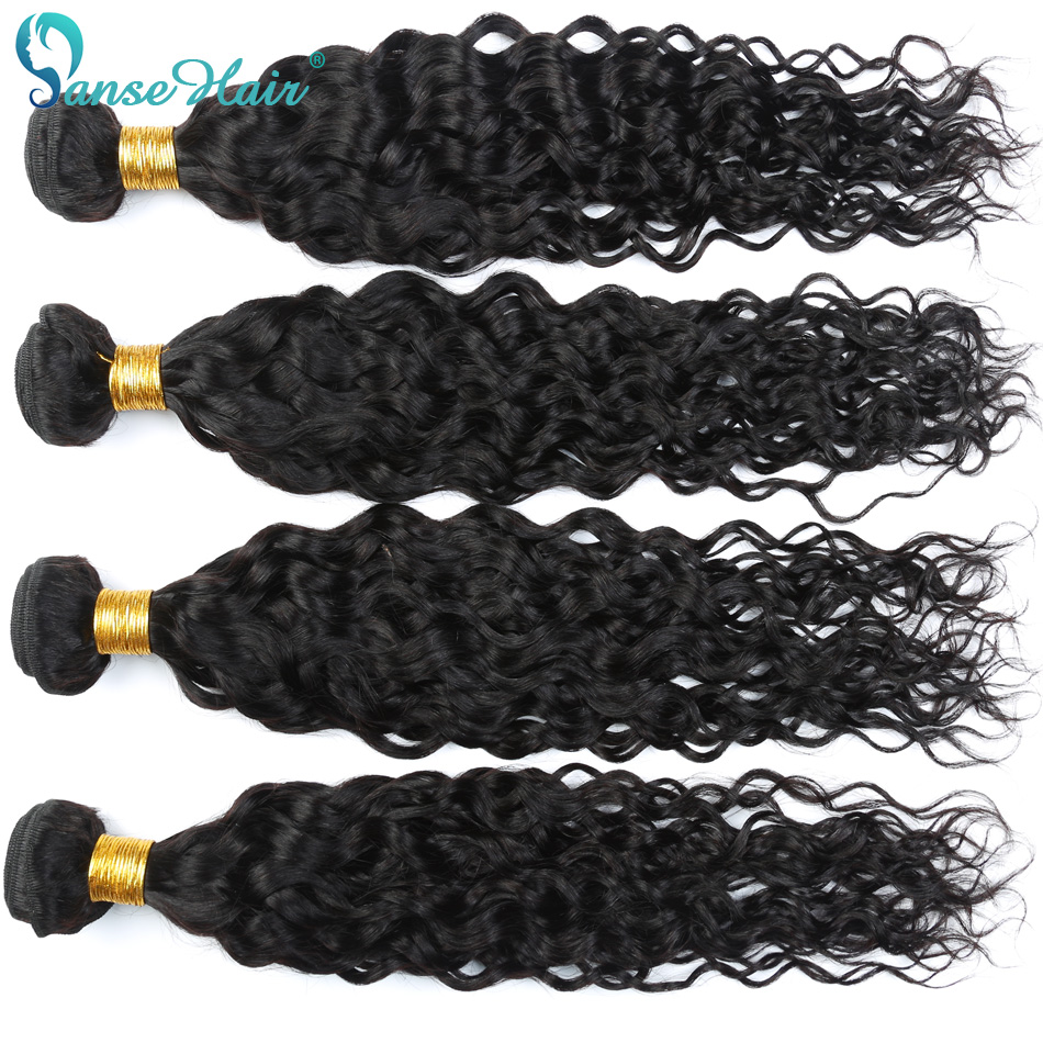 Panse Hair Water Wave Bundles Brazilian Hair Weave Bundles 4 Bundle Deals  Human Hair  Non-Remy  Customized 8 To 30 Inches
