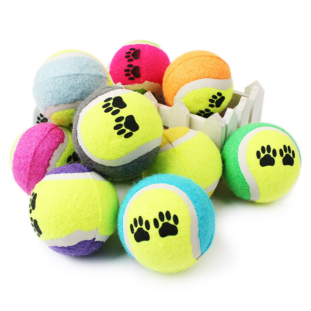 New Pets Cat Toy Colorful Tennis Dog Toys Run Fetch Throw Play Pet Supplies Chew