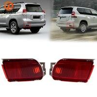 POSSBAY Rear Bumper Fog Lights for Toyota Land Cruiser Prado(J150) 2010 2018 Red Lens Reflector Rear Stop Lights Housing