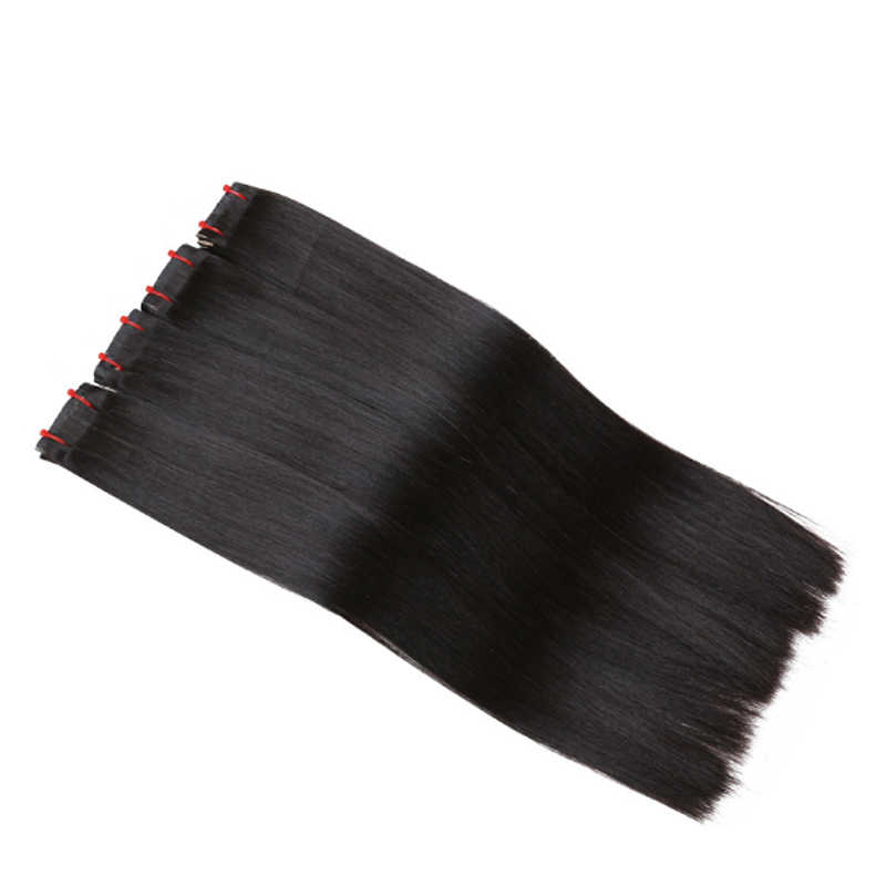 Natural Black Virgin Hair Bundle With Comb Apply For 6d Hair Extension Machine Unprocessed 6D Human Extension Hair  Various Size