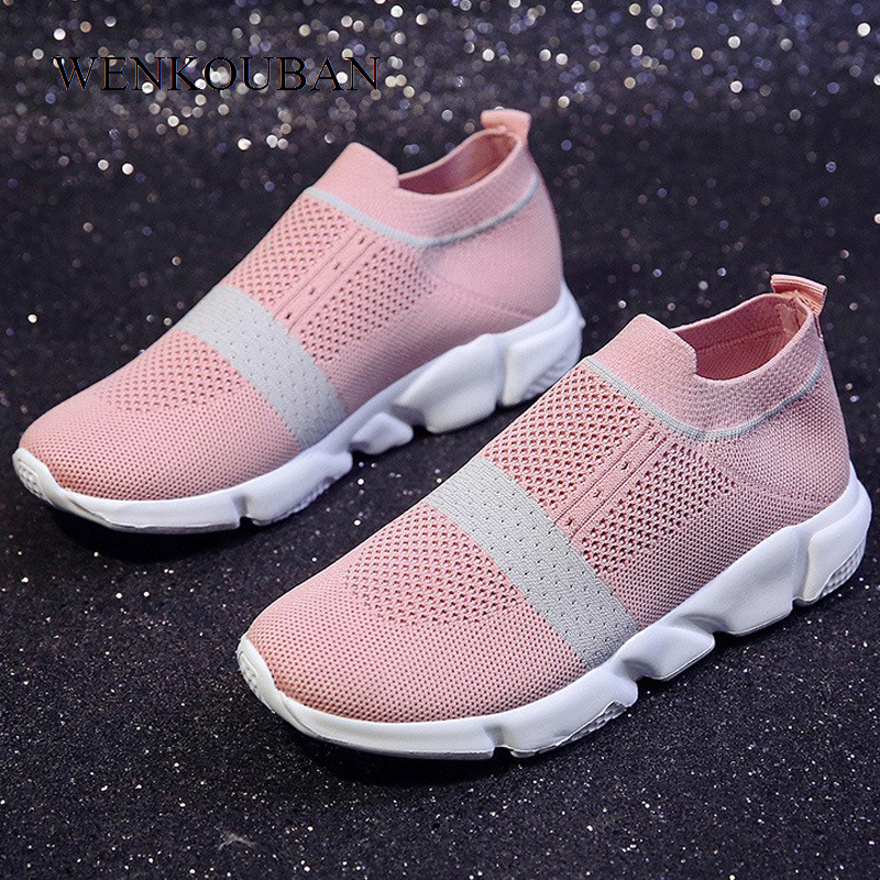 Women Sneakers Summer Sock Shoes Ladies Trainers Knitting Shoes Spring Flats Casual Vulcanized Shoes Plus Size Zapatos MujerWomen Sneakers Summer Sock Shoes Ladies Trainers Knitting Shoes Spring Flats Casual Vulcanized Shoes Plus Size Zapatos Mujer