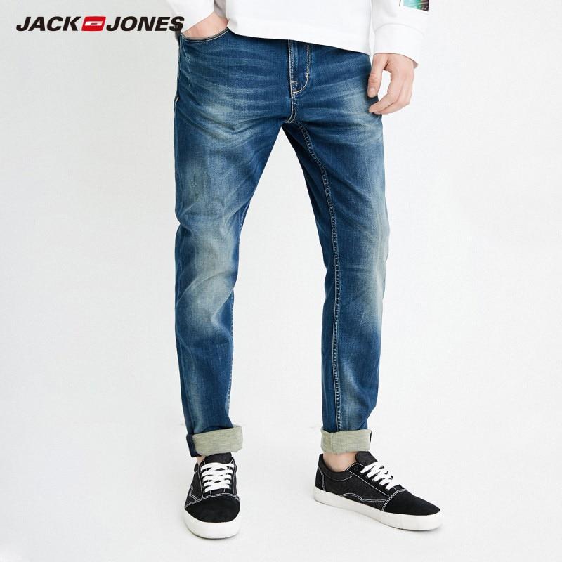 JackJones men's Autumn Casual Slim   Jeans   Mens Brands Fit Slim Trousers Elastic Waist Male Pantalones J|218132555