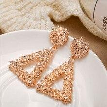 цена на 2019 1 Pair Bling Trendy Vintage Metal Alloy Earrings For Women Jewelry Dropshipping