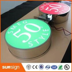 Letras iluminadas, letras personalizadas de la caja de luz, pantalla de publicidad de señal retroiluminada 3d