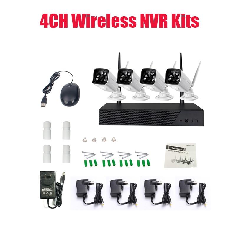 Nouveau Kit sans fil NVR P2P 720 P HD extérieur IR Vision nocturne sécurité caméra IP WIFI système de vidéosurveillance