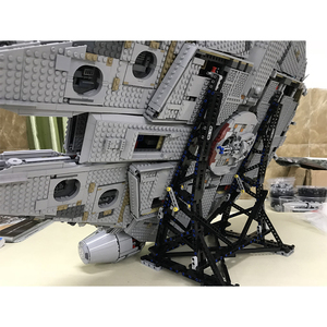 Image 5 - Black MOC Millennium toys Falcon Vertical Display Stand Compatible with No.05132 and No.75192 Ultimate Collectors Model
