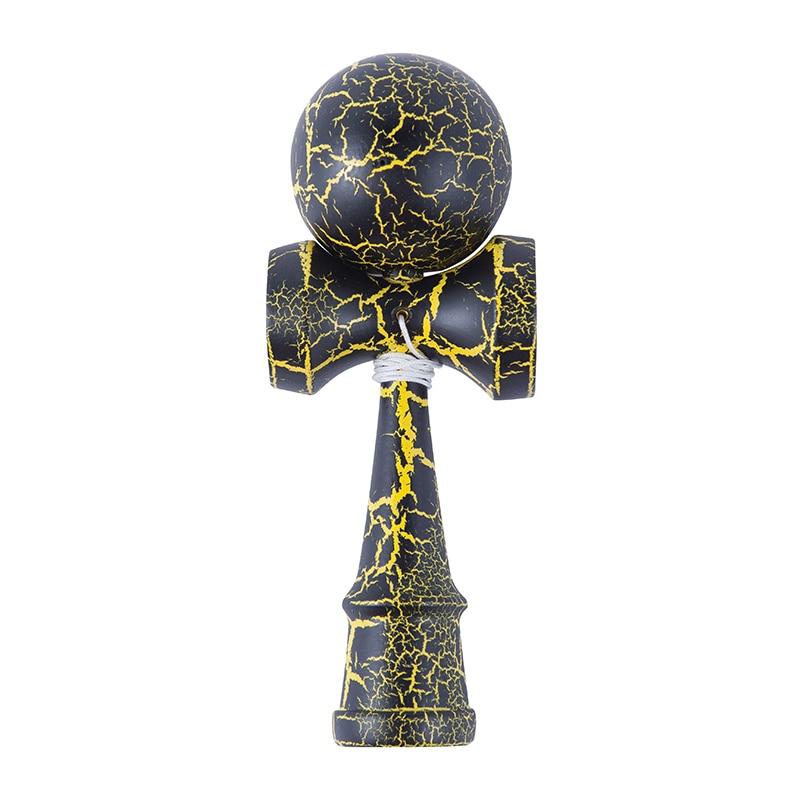 Привлекательная Kendama 18,5 см забавная японская традиционная деревянная игрушка Kendamas мяч красочные ПУ краски деревянные игрушки