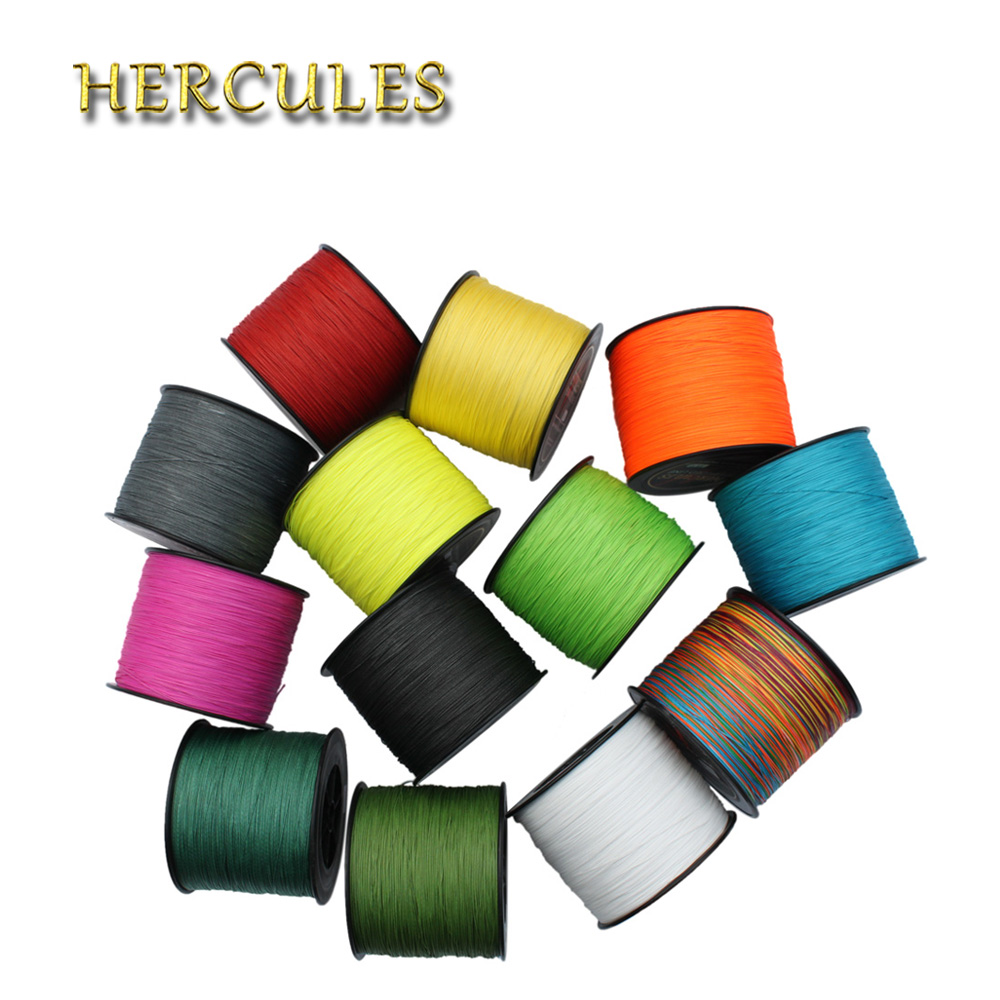 Hercules Big Game Fishing Line 8 Strands Braided Fishing Line Cord 100% PE 1500M 150LB 1640Yds 0.62mm Superior Carp Fishing Line