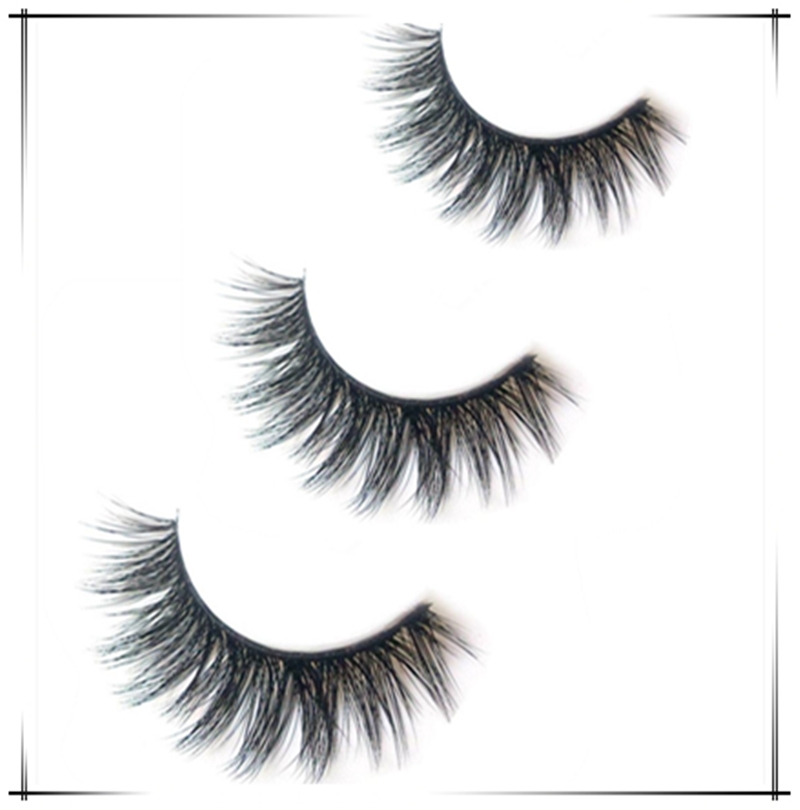 63cf5830878 Detail Feedback Questions about New 3 pairs = 6pcs natural false eyelashes  fake lashes long makeup 3d mink lashes extension eyelash mink eyelashes for  ...