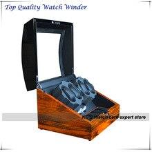 Высокого Класса High Gloss Фортепиано Краски 4 + 5 Автоматическая Деревянный Смотреть Winder Японии Двигателя Лучший Подарок Коробка GC03-D31BZB-S-A