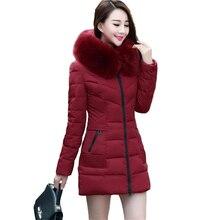 Зимняя куртка женщин 2017 новых женщин способа Мягкие меховые воротники пальто зимы женщин теплые женские пуховики