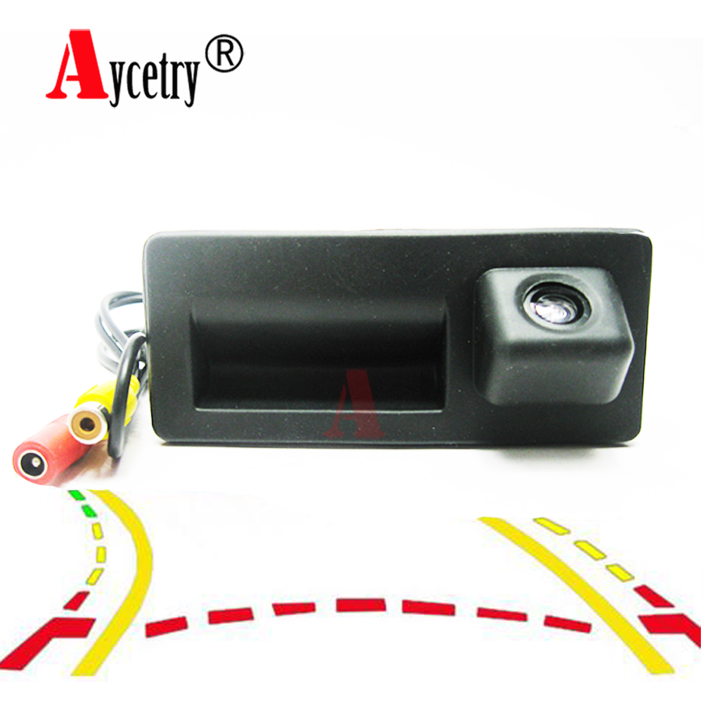 Aycetry! CCD HD Car Trunk Handle Rear View Camera for Audi A4 A5 S5 Q3 Q5 for VW Golf Passat Tiguan Touran Jetta Touareg B6 B7(China)