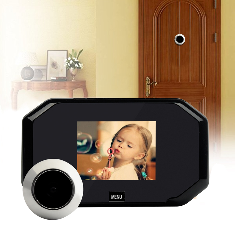цена на 3.0 inch Color Screen Doorbell Viewer Digital Door Peephole Viewer Hidden Cat's Eye Head Security Camera Wide Angle120 Degrees