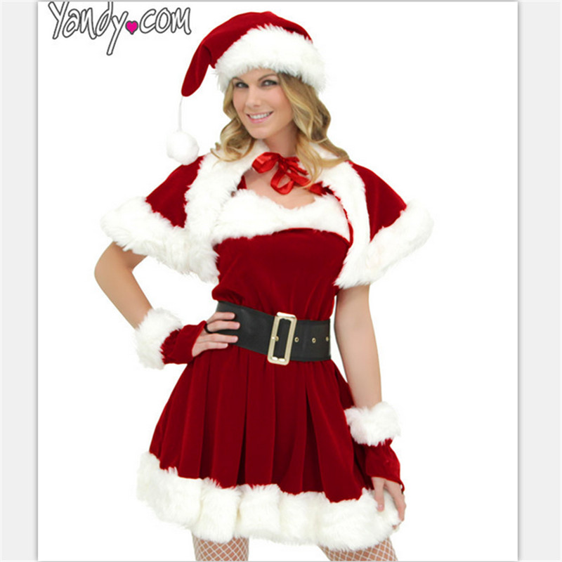 Sexy Little Red Riding Hood exported to Europe Christmas party clothes including hat shawl collar dress nightclub dance costume