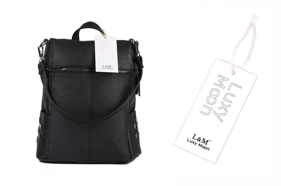 HTB1wOmXa41YBuNjy1zcq6zNcXXa9 Simple Style Backpack Women Leather Backpacks For Teenage Girls School Bags Fashion Vintage Solid Black Shoulder Bag Youth XA568