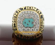 Free Shipping 2005 North Carolina Tar Heels Basketball National Champions Ring With Wooden Box solid fan gift men wholeslae
