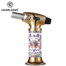 Luxury torch cigar lighter PORCELAIN gas lighter CL-500 free ship new arrival free ship new beater