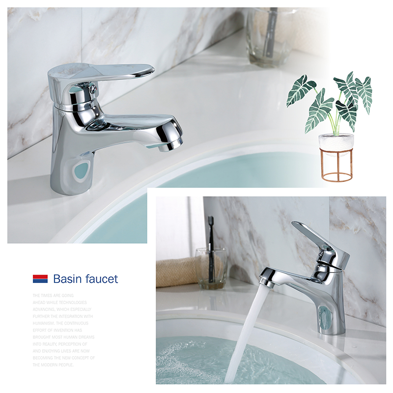 LOY Moderne salle de bains Évier Facette mitigeur Lavabo Robinet Lavabo Robinet En Laiton Poli Chrome LOY 01001 - 2