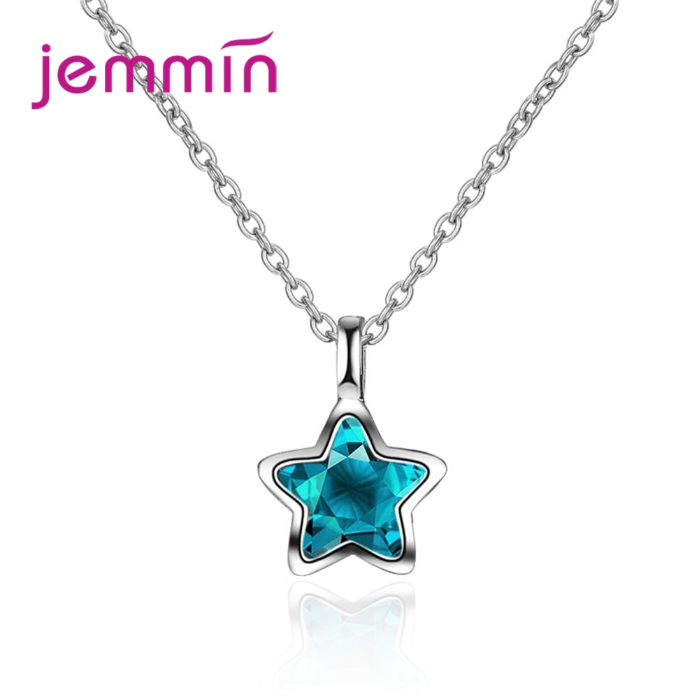 High Quality Necklace Austrian Crystal 925 Sterling Silver CZ Jemmin