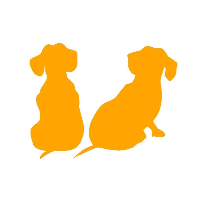 HotMeiNi Car Sticker Jdm styling Window Bumper Vinyl Truck Body Decal Waterproof Dachshund Puppies Dog 13*10cm