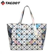 Bao Bao Frau Tasche Plaid Diamant Tote Handtaschen Geometrie Pailletten Saser Einfachen Klapp Aktentasche Damen Schulter Handtaschen mit Logo
