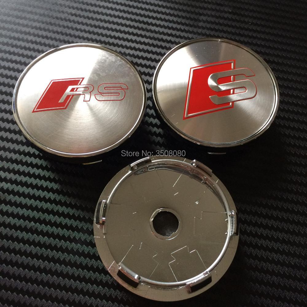 High quality 20PCS 60mm Chrome S LINE SLINE Car Wheel Hub Cap Center Caps Emblem Badge For A3 A4 A5 A6 A7 A8 S3 S4 S5 S6 S7