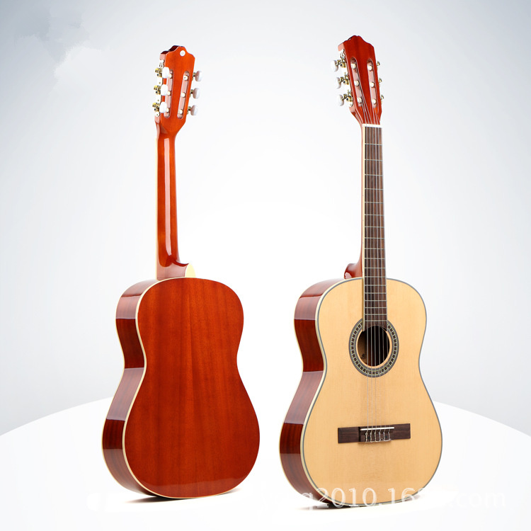 Flattop Auditorium Classical Guitar 39 Inch Guitarra 6 Nylon String Light Body Standard Size Picea Asperata savarez classical corum standard tension set 024 042 classical guitar string 500ar