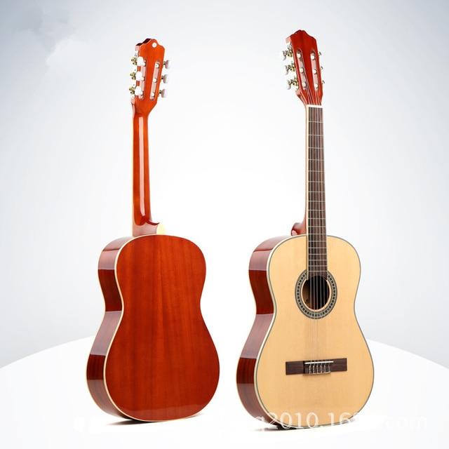3e9552dd481 Flattop Classical Acoustic Guitar 39 Inch Guitarra 6 Nylon String Light  Body Standard Size Picea Asperata