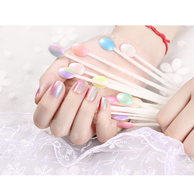 100pcs Spoon Shape Nail Art Tips Sticks False Display Practice Fan Polish Gel Swatches Color Sample