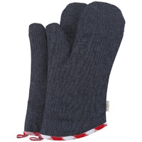 Neoviva Cotton Denim Quilting Oven Mitts For Women Set Of 2 Style Tiffany Checked Red