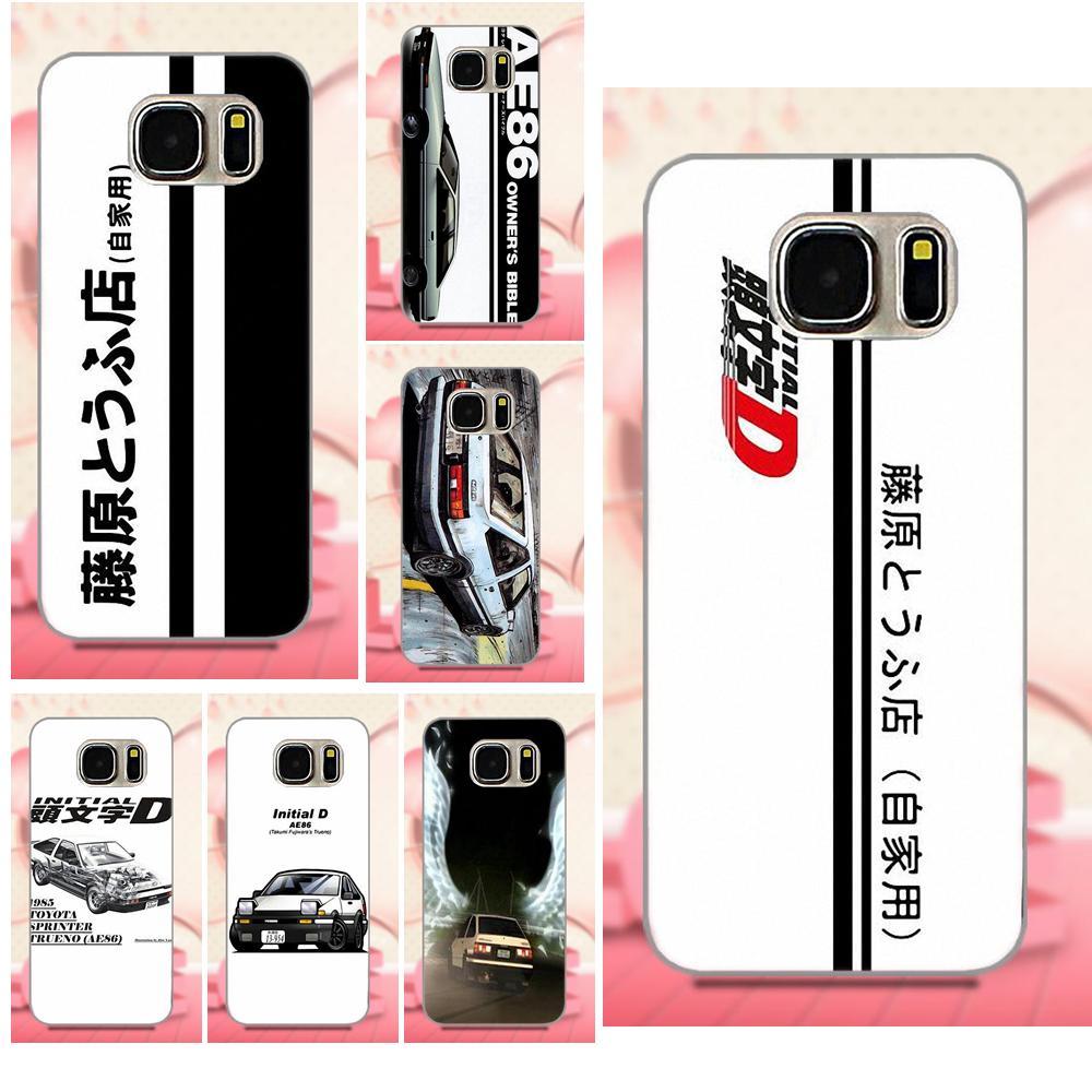 Oedmeb Phone Accessories Case For Galaxy A3 A5 A7 J1 J3 J5 J7 2016 2017 S5 S6 S7 S8 S9 edge Plus Initial D Ae86