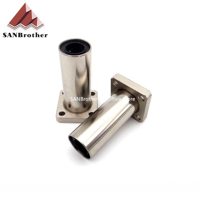 2PCS LMK12LUU 3D Printer Parts Ultimaker 2 Extended UM2+ Square Flanged Linear Bearing LMK12LUU Electroplated Never Rust Hot!
