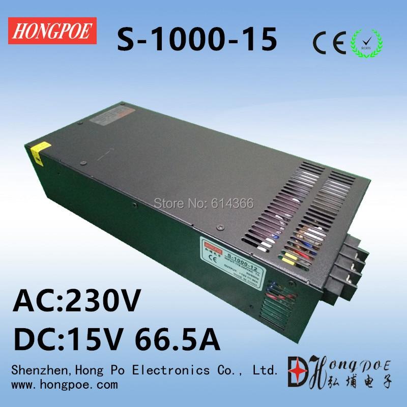Free Shipping DC 15V 66.5A power supply 15V adjustable power AC-DC High-Power PSU 1000W cps 6011 60v 11a digital adjustable dc power supply laboratory power supply cps6011